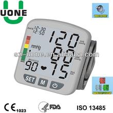 Talking digital wrist watch blood pressure monitor