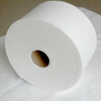 Cross lapping spunlace non woven fabric for wet tissue facial masks cosmetic pads 70% viscose 30% polyester