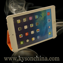 Hot selling pu leather stand case for ipad, for ipad stand leather case