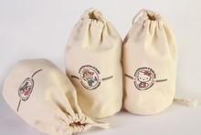 organic cotton drawstring bags/cotton fabric bag