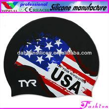 silicone ear swim cap,cool swim caps