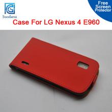 For LG Nexus 4 E960 Slim Flip Leather Case - Cover Pouch suodarui