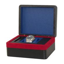 De lujo de gran hombres de madera caja de reloj única
