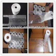 Transparent plastic t-shirt bags shopping bags
