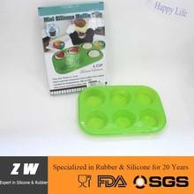 ZW FDA LFGB food grade silicone cake mould muffin form