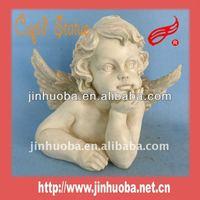 2014 Resin Cupid white angel figurine wholesale