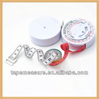 60inch/150cm promotional medical hot novelty items body care bmi measure tape calculator gift calculator with company names