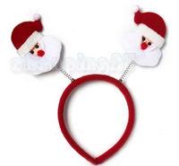 New Hot Lovely Pretty Fancy Red Santa Claus Christmas Headband Bow Cute HairBand H128