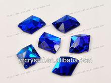 Cosmic capri blue color silver foiling crystal flatback sew on rhinestone embellishment