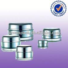 2014 unique new wholesale sale acrylic round with step skin cream jars