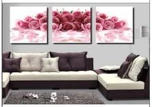 MT3025 Pink Rose diy home decoration novel painting 50*50cm*3