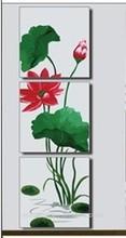 MT3030 lotus leaf 2014 unique best friend birthday gifts flower digital painting 50*50cm*3