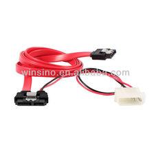 SATA Slimline 7+6 pin female > SATA 7 pin + 4 pin Power(5V)