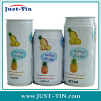 53 x 133 easy open round metal juice drink can 250ml