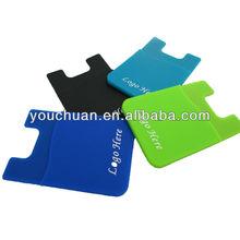 Smart Wallet Adhesive Back Pocket for SmartPhone Removable Silicone Card Holder