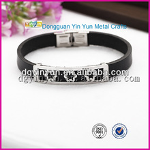 Personalized engraved exquisite flower bracelet/silicone wrist band