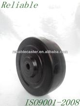 "4x1-1/4"" Soft Rubber Tread Molded To Hard Rubber Core Hard Rubber Wheel"