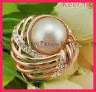 rhinestone pearl decorative scarf brooch pin hair clip WBR-1234