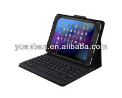 Fashion tablet keyboard folio case with bluetooth keyboard for ipad mini