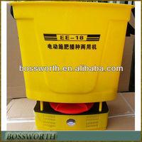 braces electric fertilizer spreader