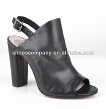 Sexy fashion black slingback high heels women sandals