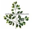 Artificial ficus folhas, banyan tree folhas, alta imitado banyan tree folhas para a decoração
