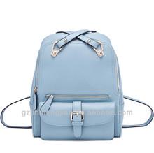 Korean style pu leather custom backpack popular bags
