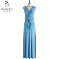 light blue mother of the bride dresses elegant jersey long maxi dress wholesale