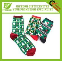 Fashionable Custom Logo Santa Christmas Sock Decoration