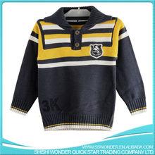 Botones suéter del suéter suéteres Manual de bordado suéter de punto para el bebé