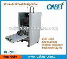 automatic binding and folding machine,saddle stitcher BF-20C