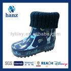 cute blue warm waterproof winter boots for kids