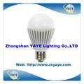 Yaye 2014 vender mejor precio de fábrica 3w/5w/7w/9w/12w bombillas led& 5w bombilla led de luz con dos años de garantía