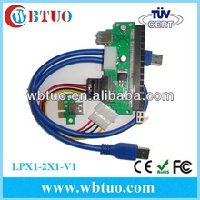 2014 New product PCI Express PCI-e X1 TO X16 Extension Cable with Molex Connector