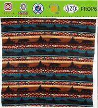 native America polar fleece blanket with bear&mountain pattern
