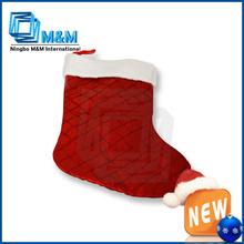 New Fashion Decorative Sponge Fabric Christmas Stocking