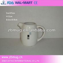 white mini ceramic jug porcelain milk jug with handle