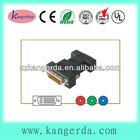 dvi-a plug to 3rca rgb jack black color rca to dvi adaptor