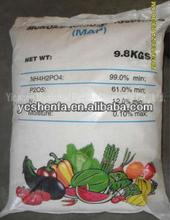 12-61-0 map monoammonium phosphate(tech grade 99%) agricultural aPotassium Fulvate Shiny Flakes