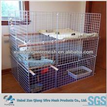 galvanized rabbit cages/plastic coated rabbit cages