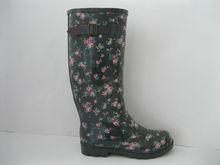 High style Rubber boots Flower Power Rain Boot