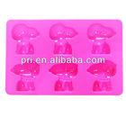 Fahion 6-cavity dog shape non-stick silicone cake baking mold, chocolate jelly candy bread mold ice cube tray