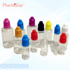 30ml PET childproof cap & thin tip colorful empty bottle for eliquids