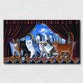 moderne salon décoration chat de haute qualité des images à imprimer