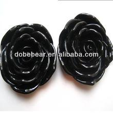 DIY Black Rose Plastic pendant bulk Bubblegum Chunky Beads for kids necklace