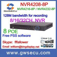 dahua mini portable nvr network port 12V DC nvr dahua NVR4208-8P/NVR4216-8P/NVR4232-8P ONVIF USB Device/Network/Inter