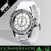 High quality geneva quartz silicone watch jewellery watches for women