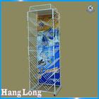 Metal plastic bottle display rack HL882G