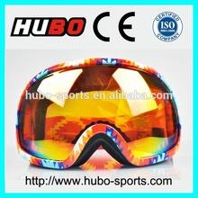 Colorful printing soft TPU frame fashion ski goggles custom snow safety eyewear