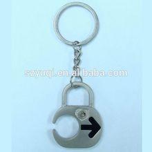 fashion design england metal keychain